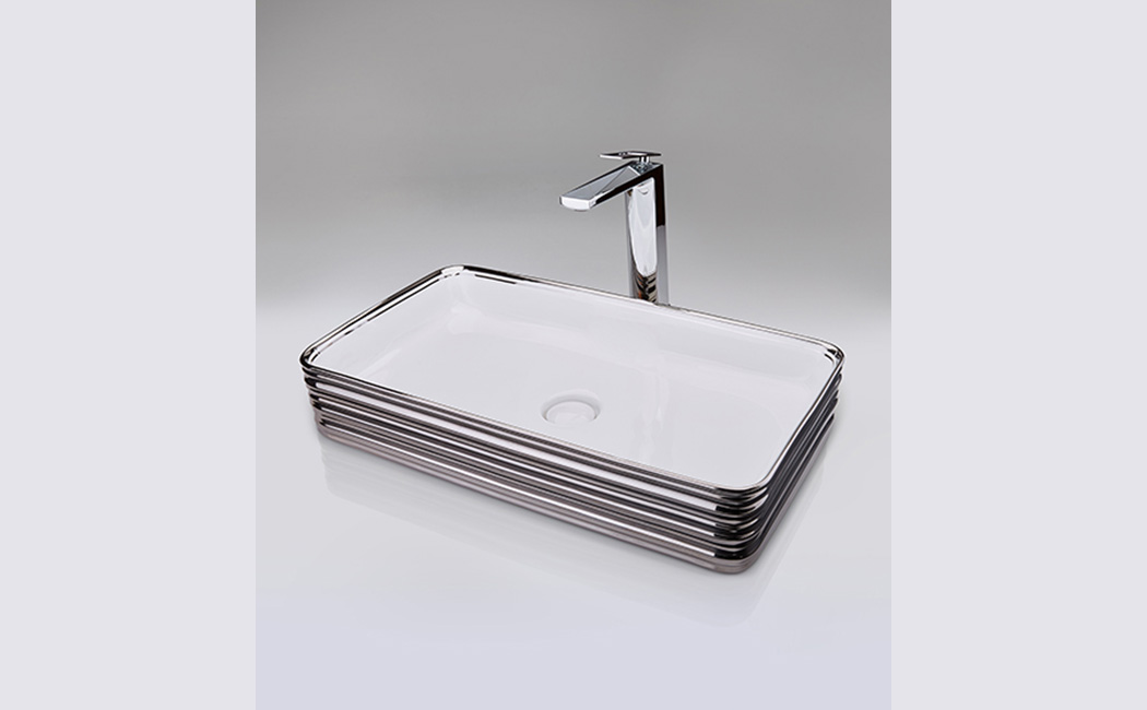 Platinum White Table Mounted Wash Basin