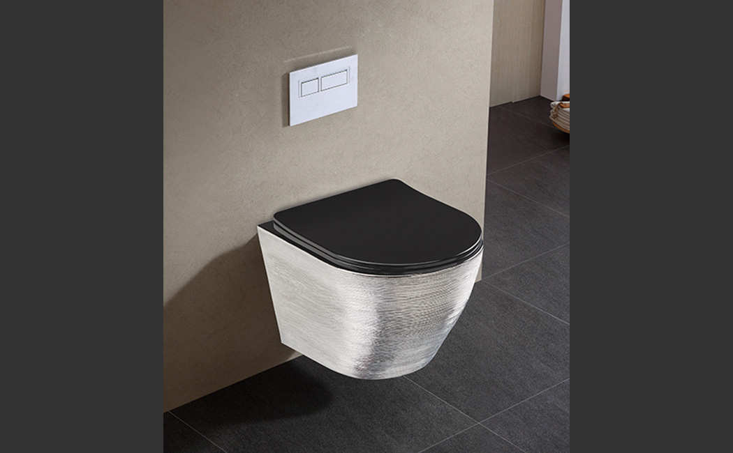 Rimless Wall Hung Toilet with Slim UF Seat Cover