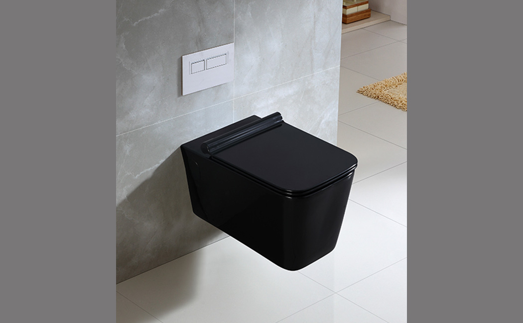 Wall-Hung Toilet with Slim UF Seat Cover